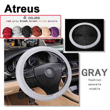 Atreus Car Accessories Steering Wheel Cover Cap Nylon Slip For Mercedes benz W204 W203 W211 AMG Mini cooper Skoda octavia a5 a7 image