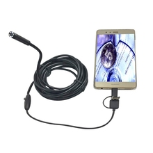 Safurance DANIU 3-in-1 5.5mm 6LED Waterproof Endoscope Android USB Type C Endoscope Borescope Inspection Camera 1/2/3.5/5m