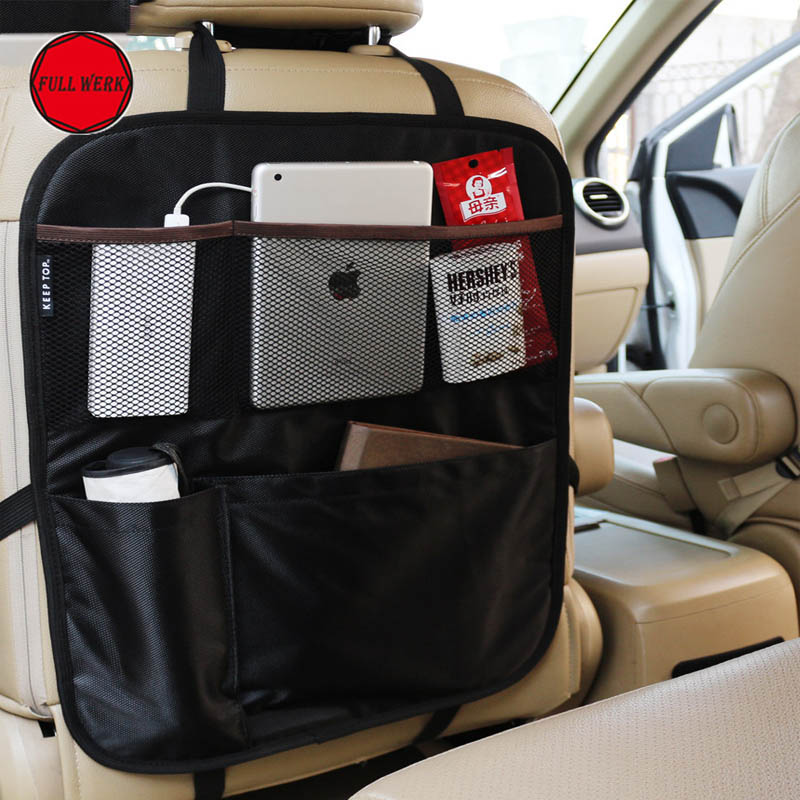 1pc Portable Car Back Seat Organizer Multi Pocket Oxford Traveling Storage Container Bag for Cars SUV