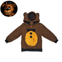 FNAF FIVE NIGHTS AT FREDDYS JACKET HOODIE Kid Size Boy Halloween Cosplay Costume