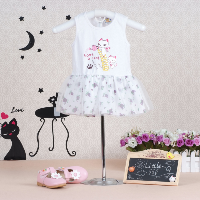 2017 Baby Girls Dress Summer Sleeveless Pure Cotton Dresses Toddler Clothing Gauze One Piece Clothes high quality compatible projector bulb poa lmp59 fit for plc xt16 plc xt3000 plc xt3200