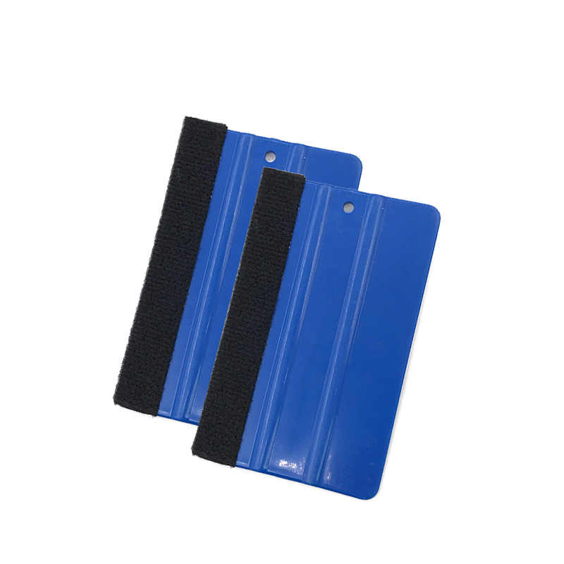 1PCS Car Vinyl Film wrapping tools Blue Scraper squeegee with felt edge size 12.5cm*8cm Car Styling Stickers Accessories