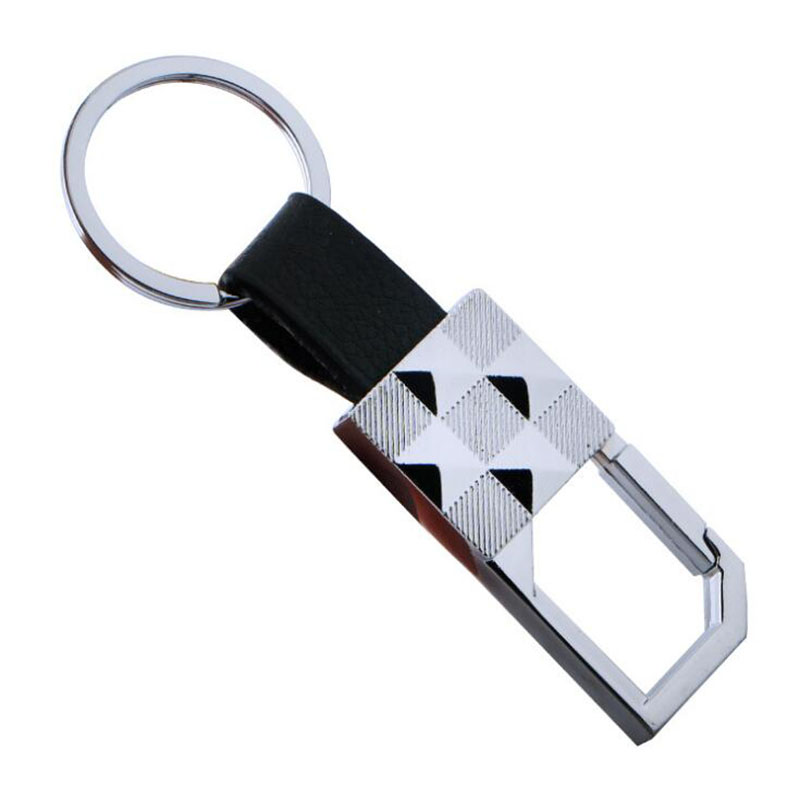 Mens leather car key chain can be customized LOGO leather key ring promotional business  ...