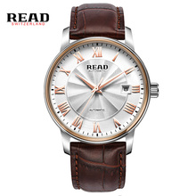 Read Watches Men Luxury Brand Leather Mechanical Hour Reloj Hombre Causal Automatic Male Wristwatches Relogio Masculino PR171