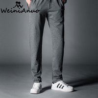 WEINIANUO Street Fashion Mens Cotton Casual Pants Sweatpants Men Rompers New Design Running Clothing 2017 New