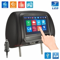 New 7 inches Touch Screen Universal Car Headrest Monitor Pillow Monitor Multi Media Player Bluetooth FM IR MP5 Player SH7068 MP5