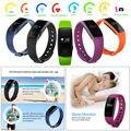HOT ID107 Inteligente Pulseira de Relógio Monitor De Freqüência Cardíaca Do Bluetooth 4.0 Wrist Band Strap Pedômetro de Fitness Rastreador para ios Android