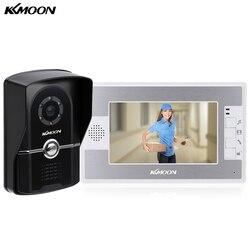 Kkmoon 7 tft a cores vídeo porteiro campainha do telefone da porta sistema de segurança em casa kit ir wired night visual speakerphone intercom