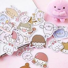 45 Pcs/box kawaii pig girl paper stickers DIY decoration diary photo album scrapbooking planner label sticker недорого
