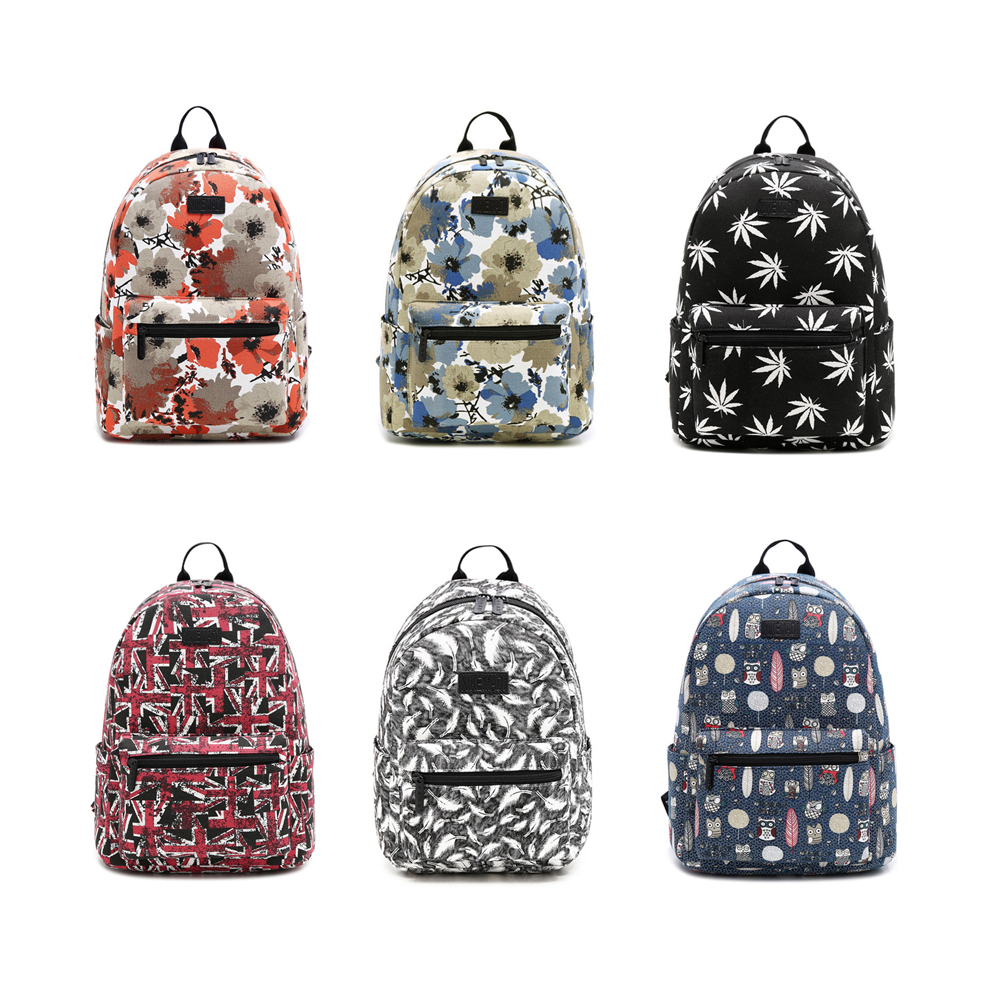 Brand Floral Printing Women School Bag Backpack For Teenage Girls Backpacks Canvas Children Schoolbag Women Book Bags anime noragami aragoto yato backpack for teenage girls boys cartoon yukine children school bags casul book bag travel backpacks