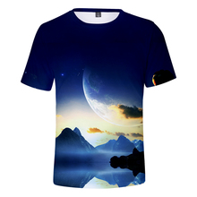 LUCKYFRIDAYF New Starry sky Short Sleeve T-shirts 3D Print Hip Hop Ifashion Men/Women Summer Casual Clothes Plus