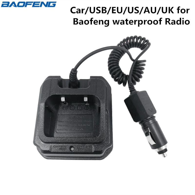 Baofeng UV-9R Waterproof Radio Battery Car Charger for Baofeng BF-A58 UV-9R Plus UV-XR UV-5S GT-3WP Walkie Talkie Two Way Radio