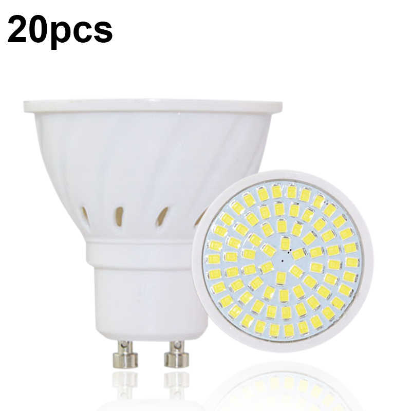 20pcs/lot Lampada De LED Lamp GU10 Bombillas Led Bulbs GU 10 220V 2835 Ampoule LED Spotlight Candle Luz Lamparas Lampadas Lights