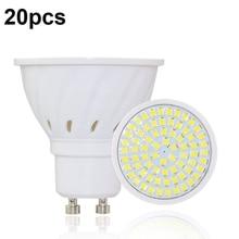 20 pz/lotto Lampada De LED Lampada GU10 Bombillas Led Lampadine GU 10 220V 2835 Fiala HA CONDOTTO Il Riflettore Candela Luz lamparas Luci Lampadas