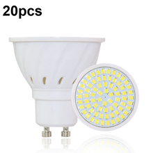 Lámpara LED GU10 Bombillas GU 10, 220V, 2835, foco Led, lámparas De Luz, 20 unidades por lote