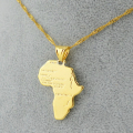 9 style /Africa map pendant necklace women girl silver/gold plated jewelry men,45/60cm african map hiphop item wholesale