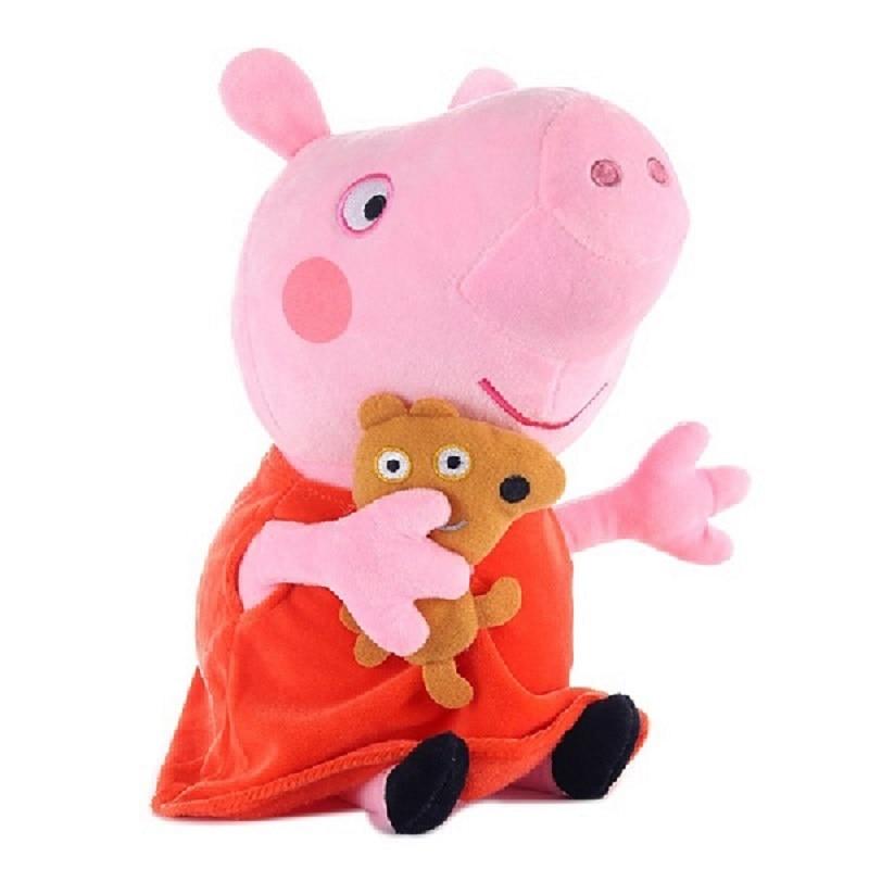 Genuine Peppa Pig 19 Cm Peppa George Plush Toy With Pet Teddy Bear / Dinosaur Boy Girl Birthday Gift Toys 2