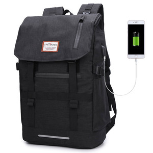 Image 3 - 2020 New Multifunction Men Backpack USB Charging 40L Large Capacity Out Door For Male Black Travel Backpacks Fashion School Bags