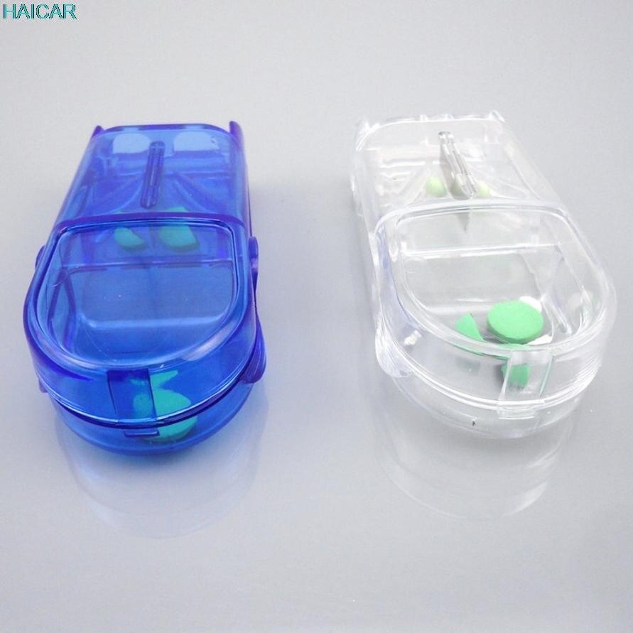 1 шт. Pill caplets медицины дозы Планшеты Резак Splitter Разделите отсек для хранения медицина коробка леверт челнока mar3