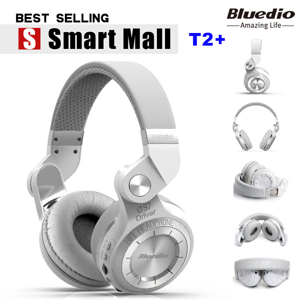 ФОТО Original Bluedio T2 Turbo Wireless Bluetooth 4.1 Stereo Headphone Noise canceling Headset with Mic High Bass Quality For Sony LG