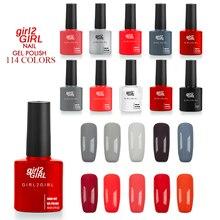girl2GIRL Gel varnish 114 Beauty Colors High Quality Long-lasting 8 ML Soak-off  NAIL GEL POLISH NEW SEASON HOT SALE