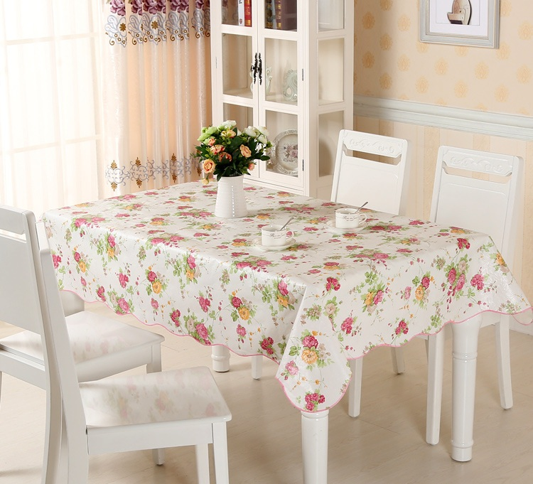 Plaid Waterproof & Oilproof Wipe Clean PVC Vinyl Tablecloth Dining Kitchen Table Cover Protector OILCLOTH FABRIC COVERING YM002