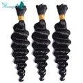 Pelo virginal peruano onda profunda bulto del pelo para trenzado No implementos peruano de la onda profunda Rosa Queen Hair Products 100 g para 1 unid