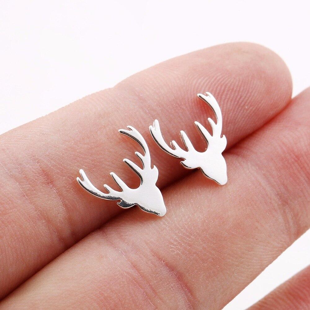 Jisensp New Arrival Fashion Deer Stud Earrings boucle d'oreille Women Party Christmas Gift boucle d'oreille femme 2017 E177