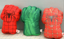 Spider man hulk boxing gloves plush toys plush filling simulation Children play essential items Holiday birthday