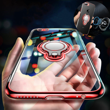 Coque для iphone 8 360 Kickstand чехол для iphone 7 плюс 8X10 покрытие кольцо держатель Крышка для iphone 6 S 6S plus 7 plus