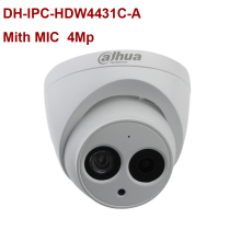 Dahua poe ip camera DH-IPC-HDW4431C-A  4mp Small IR-Dome mini Camera h.265 Built-in mic CCTV Video Surveillance