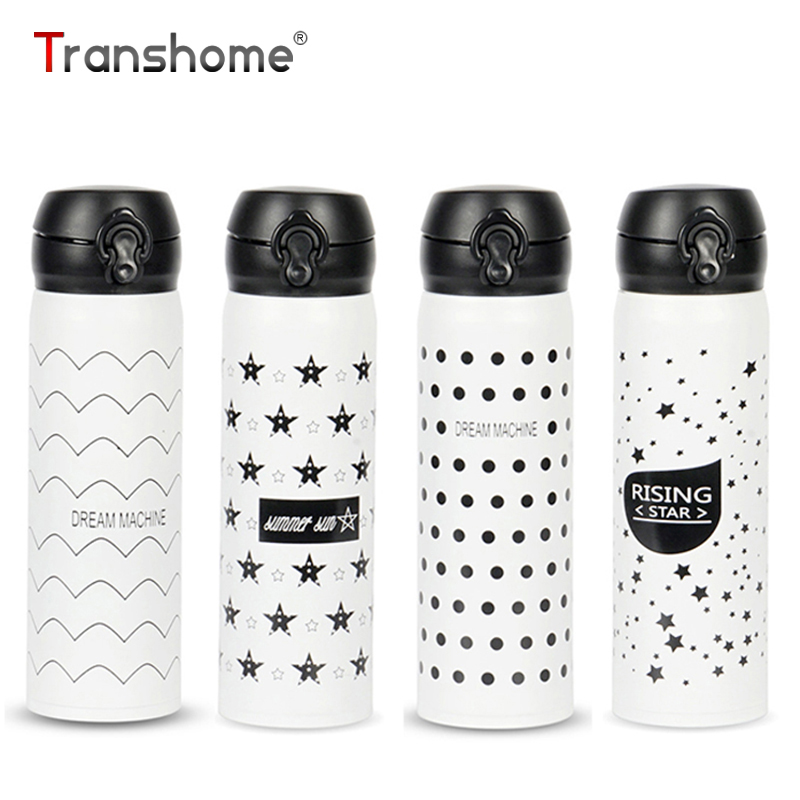 Transhome Thermos Mug 500ml Creative Stainless Steel Tumbler Thermocup Bottle For Water Vacuum Flask Insulated Coffee