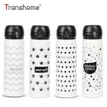 Transhome Thermosbecher 500 ml Kreative Edelstahl Tumbler Thermocup Flasche Für Wasser Isolierflasche Isoliert Kaffeetasse Termos