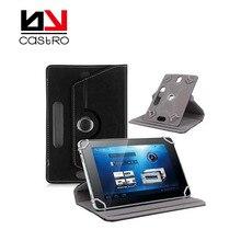 Caso universal de 7 pulgadas tablet case Diestro 360 Soporte giratorio de La Cubierta de Cuero de LA PU Da el regalo para el niño