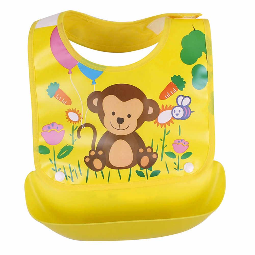 Bébé bavoirs détachable enfants garçons filles dessin animé imperméable alimentation tablier salive serviette bavoir Smock bébé alimentation imperméable C @ 30