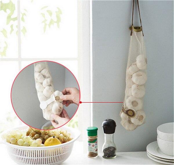 1pc kitchen vegetable onion potato storage hanging bag storage waste Vegetable Holder for Kitchen