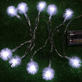 1.5m 10 Bulbs battery operated LED Cotton ball strings luminaria decoration lighting lamps Christmas holiday indoor night lights