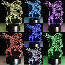 HOT SALE Movie Star Wars Villain Jedi Robot 3D USB LED Lamp Illusion Bulb Touch Remote Controller Night Light Decoration Gifts