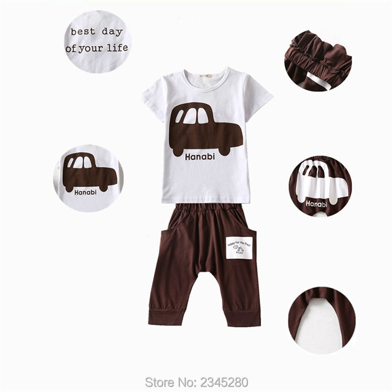 Kids Clothes Children Sets Clothing Boys Girls Clothes Car Print T Shirts Suits Short Sleeve Sport Suit Summer Kids Clothes Boys11
