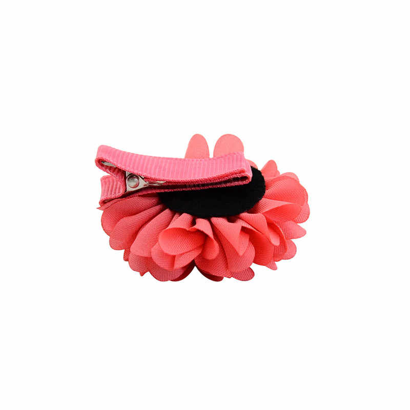 Flores artificiales indómitas con cinta de envolver Clips para el cabello horquillas para madre hija horquillas para niñas mujeres Horquillas para el cabello accesorios para el cabello