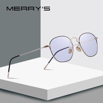 MERRYS di DISEGNO Uomini/Delle Donne di Modo di Rettangolo Occhiali Retro Blu di Blocco Luce Montature da vista Occhiali Da Vista S2091