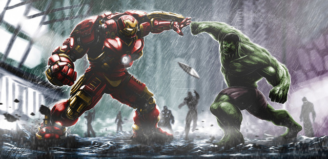 P0452 the avengers 2 movie iron man vs the hulk longer wallpaper p0452 the avengers 2 movie iron man vs the hulk longer wallpaper poster wall sticker home voltagebd Image collections