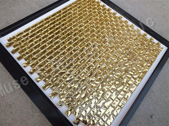 Resistenza agli alcali argento oro mosaico di vetro piastrelle
