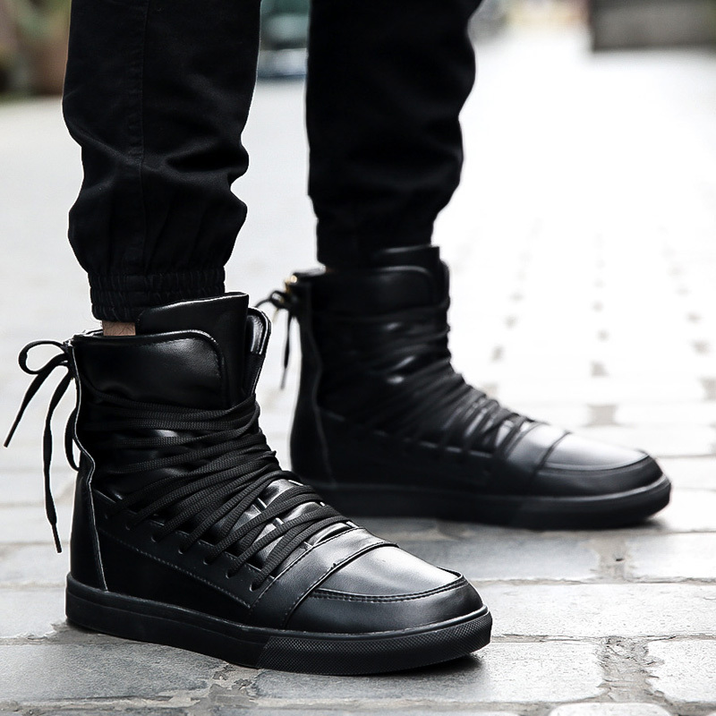 9e32c5869df Fashion New 2015 Red Men Winter Boots Men Red High Top Casual ...