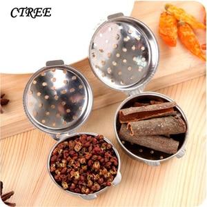 CTREE 1Pc Stainless Steel Seasoning Balls Halogen Stew Meat Seasoning Box Buckle Filter Tennis Cooking Kitchen Accessories C361