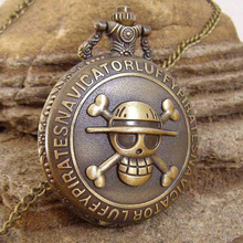 Necklace Pocket Watch Coupon Vintage Skull Bronze One-Piece for Wholesale Buyer-Price