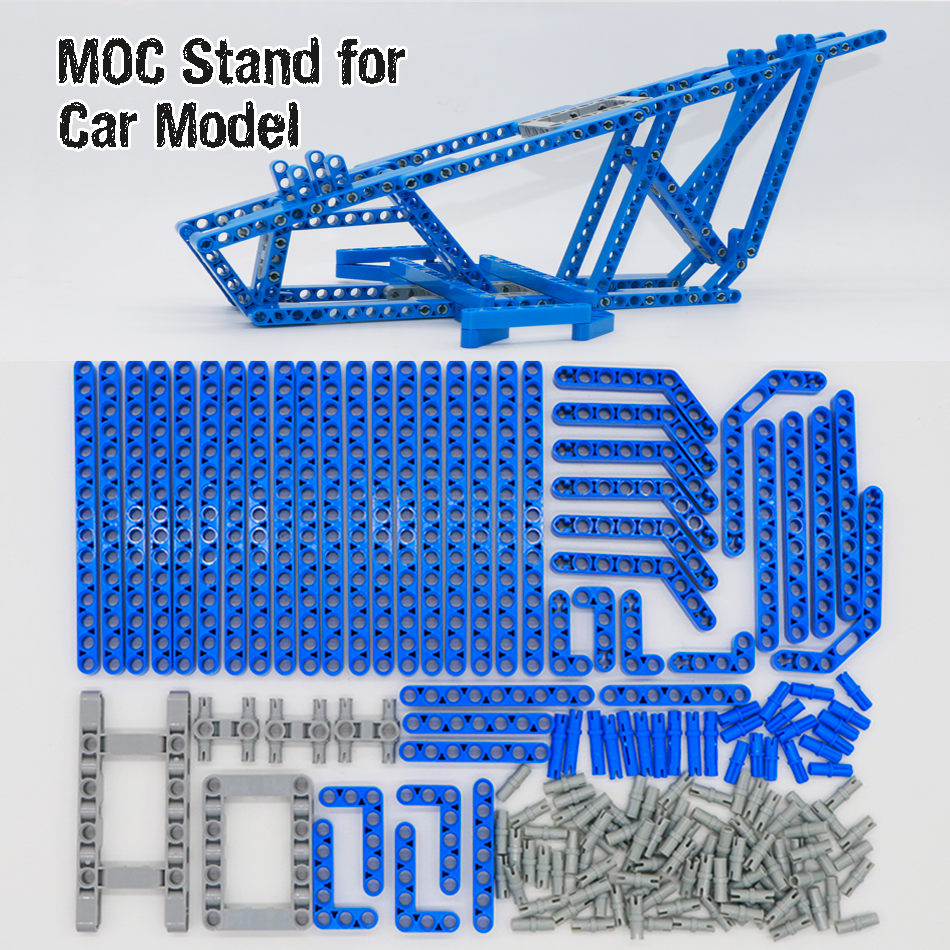 <font><b>Legoing</b></font> Bricks Technic Car Display fixed Stand for 20086 20001 <font><b>23002</b></font> 23006 Shelf Porsche MOC model 42083 42056 Toy Building Blocks image