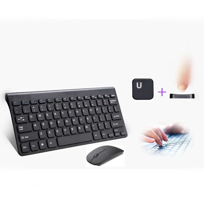 PARASOLANT Wired Mouse And Keyboard Set Portable Black White Laptop Computer Keyboard 78 ...