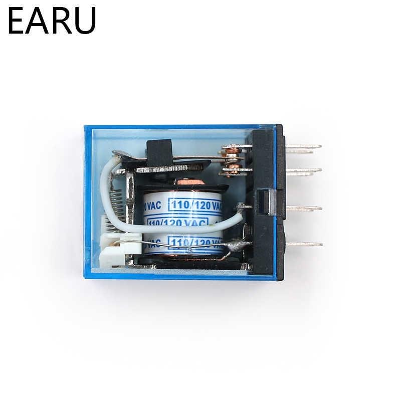 MY2P HH52P MY2NJ Röle Bobini Genel DPDT Mikro Mini Elektromanyetik Röle Anahtarı AC 110 V 220 V DC 12 V 24 V güç rölesi Anahtarı LED