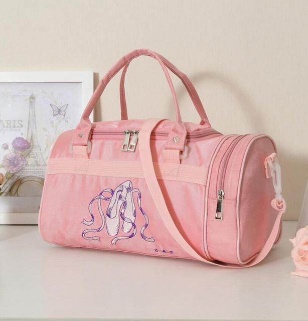 Embroidered Rucksack S Large Ballet Dance Bag Children Kids Sports Backpack Women Bags Canvas
